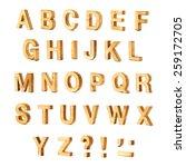 capital wooden block letter abc ... | Shutterstock . vector #259172705