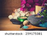 spa setting on wood | Shutterstock . vector #259175381