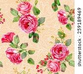 seamless pattern of vector... | Shutterstock .eps vector #259189469