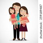 family design over white...   Shutterstock .eps vector #259189487