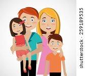 family design over white... | Shutterstock .eps vector #259189535
