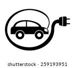 electric car design  vector... | Shutterstock .eps vector #259193951