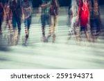 crosswalk and pedestrian at...   Shutterstock . vector #259194371