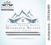 mountain resort vector logo... | Shutterstock .eps vector #259196489