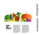 healthy eating vector concept...   Shutterstock .eps vector #259206347