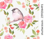 watercolor floral background... | Shutterstock .eps vector #259206491