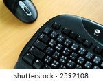 black wirel keyboard and mouse... | Shutterstock . vector #2592108
