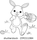 Coloring Page Of Easter Bunny...