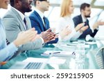 business people applauding at... | Shutterstock . vector #259215905