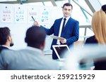 ceo explaining his plan | Shutterstock . vector #259215929
