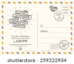 vintage postcard background... | Shutterstock .eps vector #259222934
