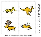 hand drawn zoo illustration  ... | Shutterstock .eps vector #259226969