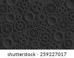 creative black gears background ... | Shutterstock . vector #259227017