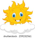 happy sun behind the cloud | Shutterstock . vector #259232561