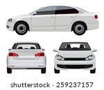 white sedan car | Shutterstock .eps vector #259237157