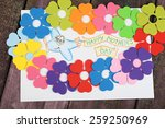 happy mothers day message... | Shutterstock . vector #259250969
