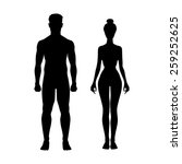 man and woman icon body vector... | Shutterstock .eps vector #259252625