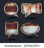 vector speech bubble icons ... | Shutterstock .eps vector #259262591