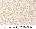 plastered wall beige color with ... | Shutterstock . vector #259268804