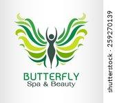 butterfly logo vector design... | Shutterstock .eps vector #259270139