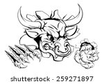 bull or minotaur monster... | Shutterstock .eps vector #259271897