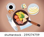 lunch   Shutterstock .eps vector #259274759