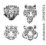 tiger | Shutterstock .eps vector #259287011