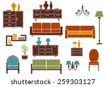 furniture and home interior...   Shutterstock .eps vector #259303127