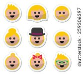 people with blond hair vector... | Shutterstock .eps vector #259306397