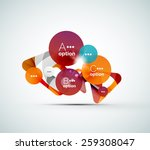 abstract step infographic... | Shutterstock .eps vector #259308047
