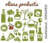 olives icons | Shutterstock .eps vector #259310531