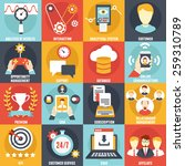 set of customer relationship... | Shutterstock .eps vector #259310789
