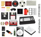 set storage media of different... | Shutterstock .eps vector #259310801