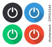 turn off vector icon   colored... | Shutterstock .eps vector #259314164