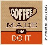 retro typographic poster design ... | Shutterstock .eps vector #259314659