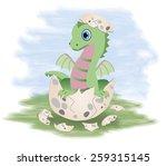 little fairy dragon  vector...