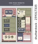 vintage one page website design ...