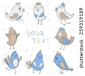 vector set of colorful cute... | Shutterstock .eps vector #259319189