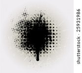 ink splat overlayed by halftone ... | Shutterstock .eps vector #25931986