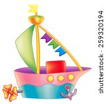 colorful boat   Shutterstock . vector #259320194