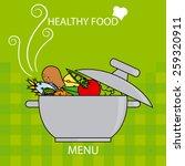 healthy food  | Shutterstock .eps vector #259320911