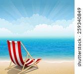 vector illustration of beach... | Shutterstock .eps vector #259340849