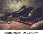shoe care accessories on a... | Shutterstock . vector #259340894