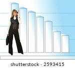 successful business and woman . | Shutterstock . vector #2593415