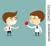 doctor suggest to patient to... | Shutterstock .eps vector #259350251