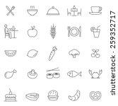 eating line icons set.vector | Shutterstock .eps vector #259352717