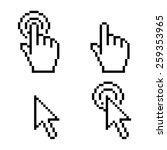 cursor click pixel art | Shutterstock .eps vector #259353965