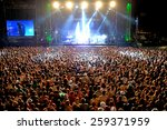 madrid   sep 13  crowd in a...   Shutterstock . vector #259371959