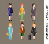 different people professions... | Shutterstock .eps vector #259372184
