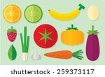 vegetable set 01 | Shutterstock .eps vector #259373117